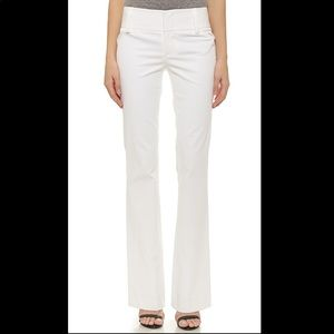 Alice + Olivia White Stacey Flare Pants 0